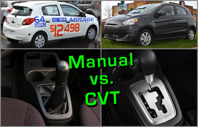 Gas mileage/MPG test: 2014 Mirage CVT vs. 5-speed (sub ...