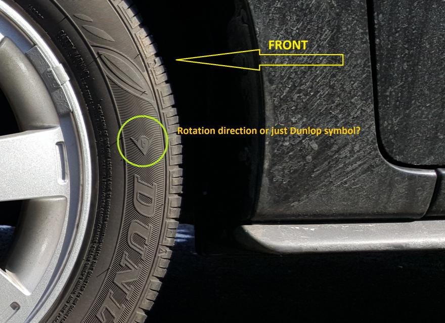 What Does This Light Mean >> Dunlop Symbol or Tire Rotational Direction? - MirageForum.com