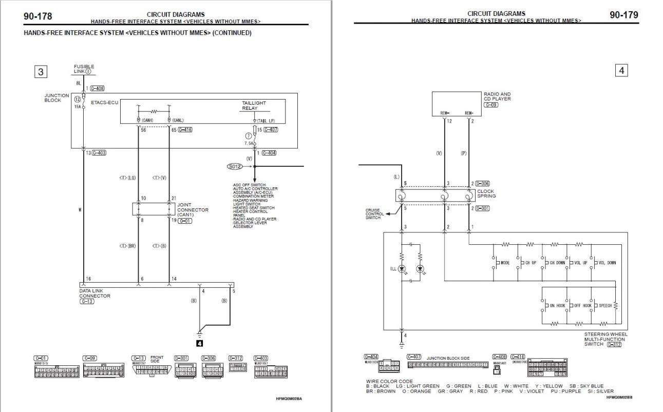 Wiring Diagram For Lights On An 99 Mirage ndash 1999