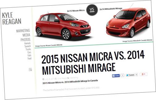 2015 nissan micra vs 2014 mitsubishi mirage. Black Bedroom Furniture Sets. Home Design Ideas