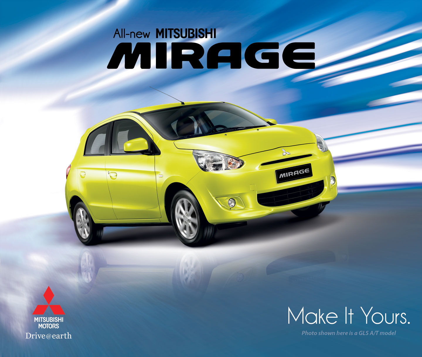 Mitsubishi Background: Mitsubishi Mirage Wallpaper